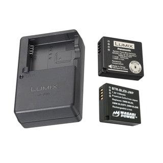 Panasonic Lumix Battery & Charger Pack w/ EXTRA Wasabi Battery (DMC-ZS60 +ZS100)