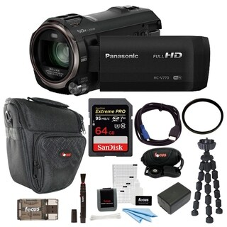 Panasonic HC-V770 HD Camcorder with Wireless Smartphone Twin Video Capture with 64GB SD Card, 49mm Tifffen UV Filter Bundle|https://ak1.ostkcdn.com/images/products/13456433/P20145414.jpg?_ostk_perf_=percv&impolicy=medium