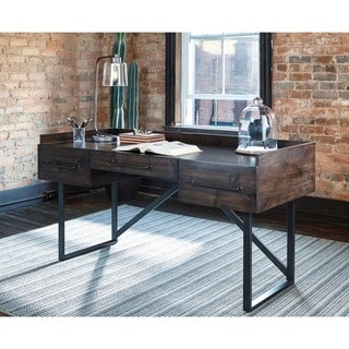 signature design by ashley starmore brown home office desk - Home Office Desk