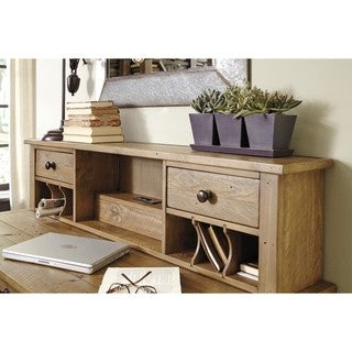 Signature Design by Ashley Trishley Light Brown Home Office Desk Hutch