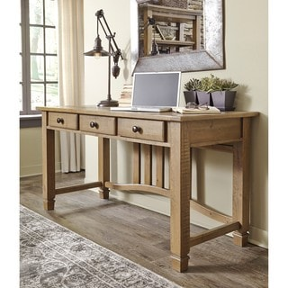 Signature Design by Ashley Trishley Light Brown Home Office Desk
