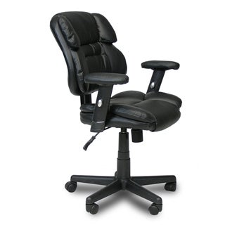 Furinno Hidup Black Leather Mid Back Executive Chair