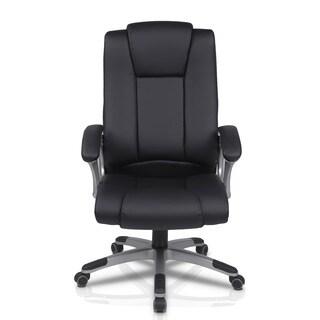 Furinno Hidup High Back Black PU Leather Executive Chair