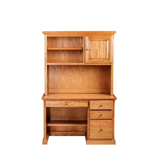 Forest Designs Traditional Desk w/ Pencil Drawer & Hutch
