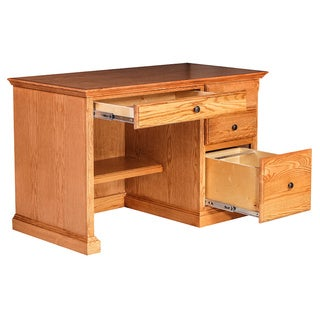 Forest Designs Traditional Desk w/ Pencil Drawer (Black Knobs)