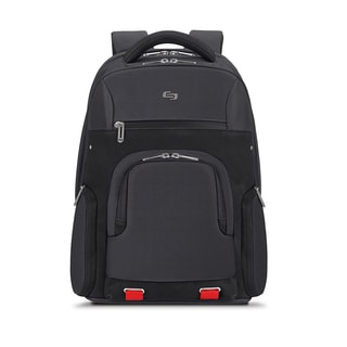 Solo Pro Aegis Black Polyester 15.6-inch Laptop Backpack With RFID Pocket