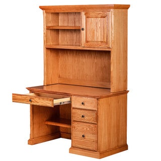 Forest Designs Traditional Desk w/ Pencil Drawer & Hutch (Black Knobs)