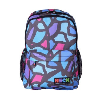 Ed Heck Rock Hand Purple Polyester 17-inch Laptop Backpack