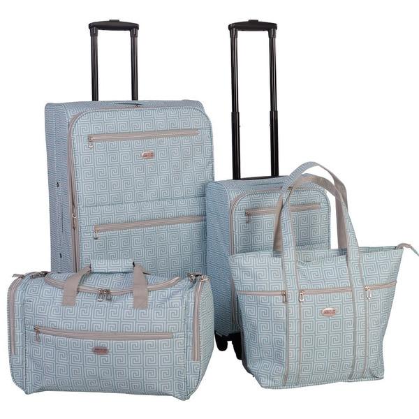 American Flyer Meander 4 Piece Spinner Luggage Set