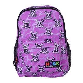 Ed Heck 'Skull' Multicolor Polyester 17-inch Laptop Backpack