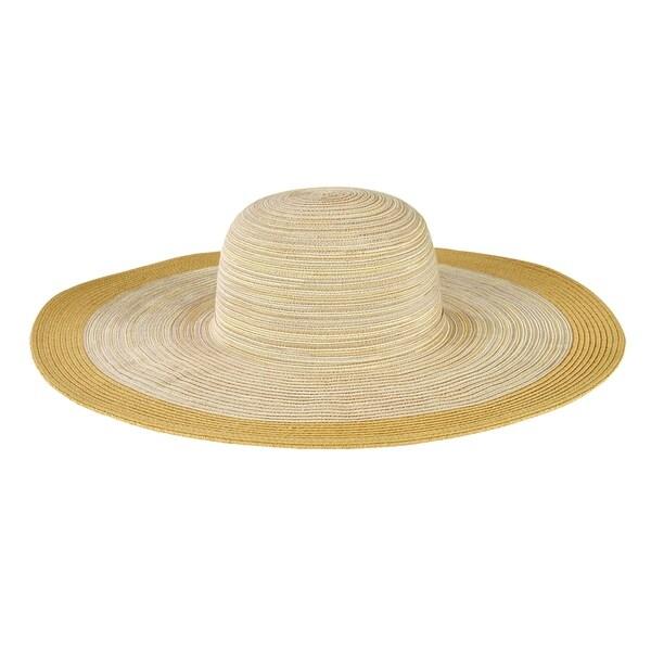 Women's San Diego Hat Company Mixed Braid Large Brim Floppy Hat MXL1016 Natural