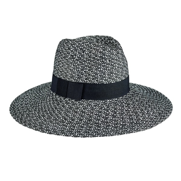 64cbe46be7e Shop Women s San Diego Hat Company Mixed Ultrabraid Fedora UBL6493 Black  White - Free Shipping On Orders Over  45 - Overstock - 13457517