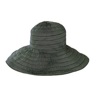 Women's San Diego Hat Company Wide Ribbon Wired Sun Brim Hat RBL4793 Black