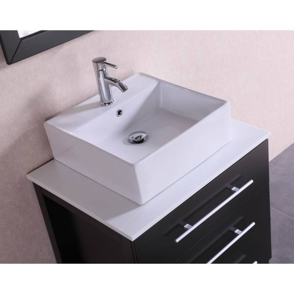28 Inch Belvedere Modern Freestanding Espresso Bathroom Vanity W/ Vessel  Sink   Free Shipping Today   Overstock.com   20152535