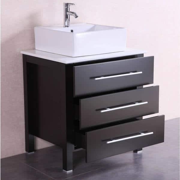 Modern Freestanding Espresso Bathroom