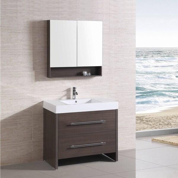 Shop 36 Inch Belvedere Freestanding Modern Veneer Bathroom