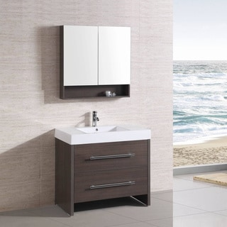 36 inch Belvedere Freestanding Modern Veneer Bathroom Vanity. Modern Bathroom Vanities   Vanity Cabinets   Shop The Best Deals