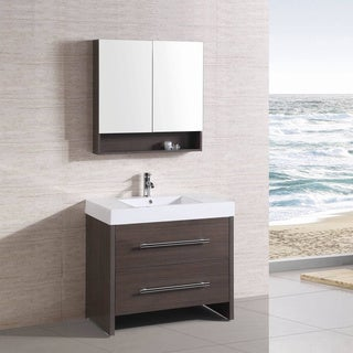 36 inch Belvedere Freestanding Modern Veneer Bathroom Vanity