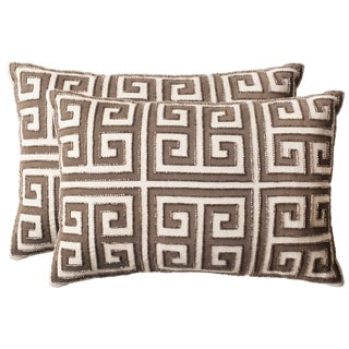 Safavieh 18-inch Chy Natural Hemp Decorative Pillow (Set Of 2)
