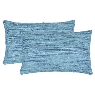 Safavieh 20-inch Eloise Brilliant Blue Decorative Pillow (Set Of 2)