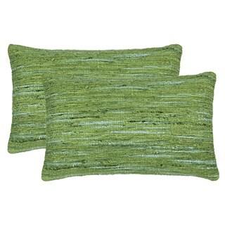 Safavieh 20-inch Eloise Glorious Green Decorative Pillow (Set Of 2)