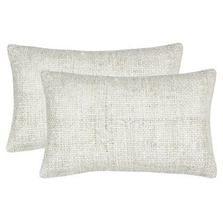 Safavieh 20-inch Carrie Bright White Decorative Pillow (Set Of 2)