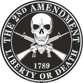 The 2nd Amendment 1789 Liberty Or Death Black Aluminum Sign