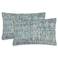 Safavieh 20-inch Carrie Playful Blue Decorative Pillow (Set Of 2)
