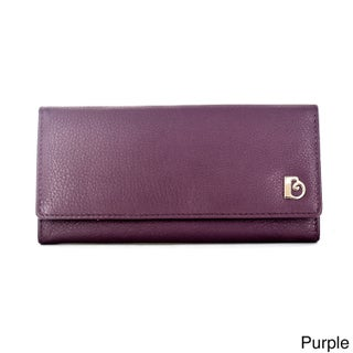 Faddism Women's Folly Leather Wallet with Card Slips