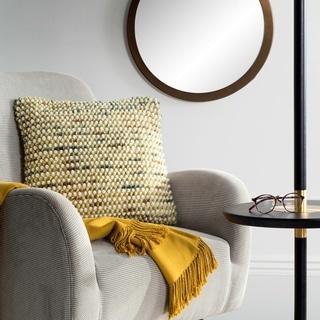 Safavieh 20-inch Pin Striped Loop Field Green Decorative Pillow
