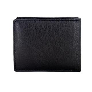 Faddism Men's Vermont Black Leather Bifold Wallet