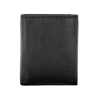 Faddism Vermont Men's Black/Brown Leather Trifold Wallet