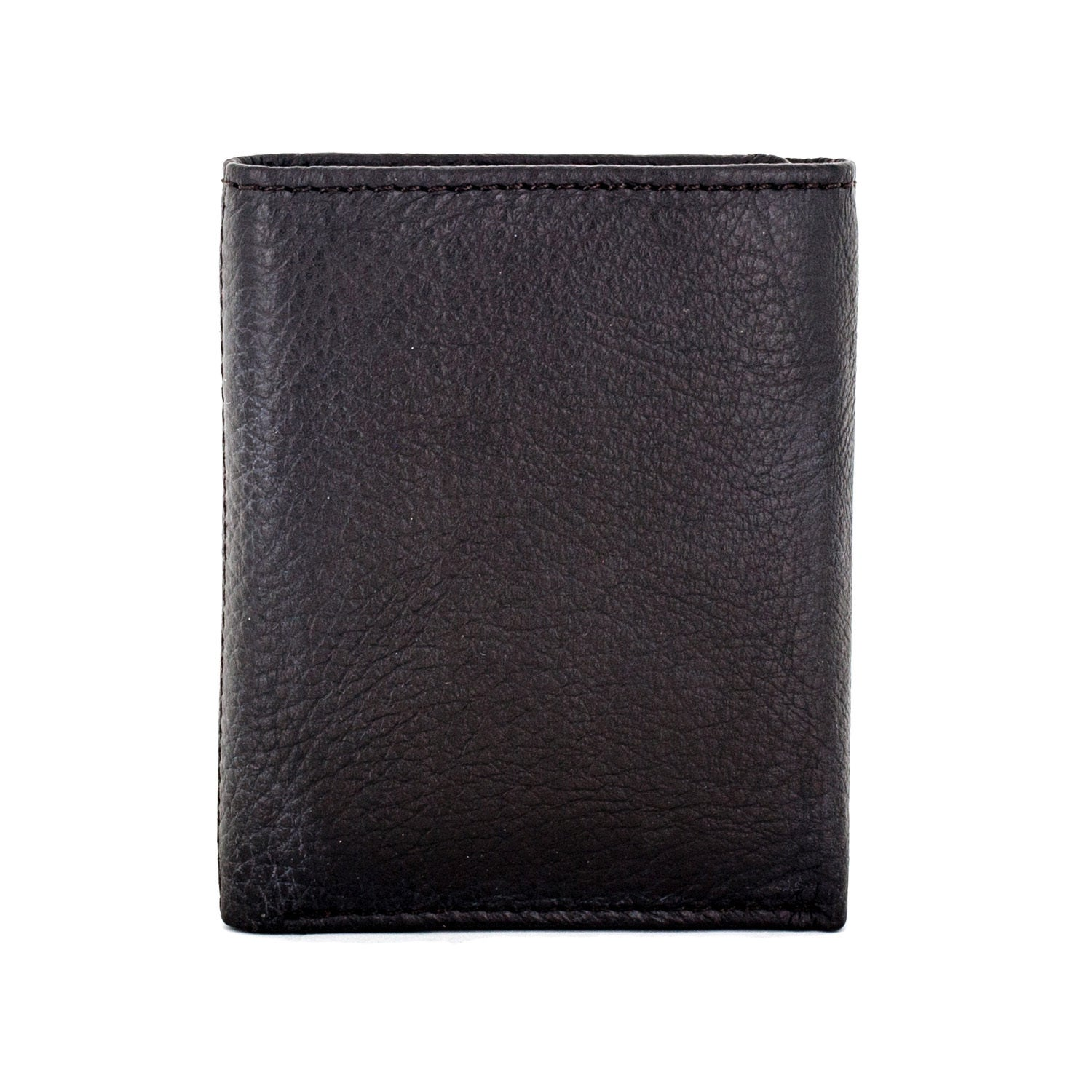 cba81eccc050 Faddism Vermont Men's Black/Brown Leather Trifold Wallet - Free ...