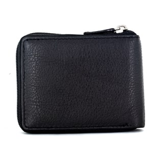 Faddism Vermont Black Leather Men's Zip-around Wallet https://ak1.ostkcdn.com/images/products/13464546/P20152565.jpg?impolicy=medium