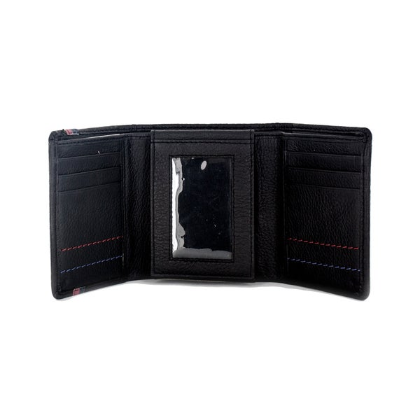 Harley-Davidson Men/'s Danger Zone Tri-Fold Genuine Leather Wallet HDMWA11213-BLK