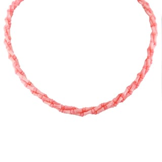 """One-of-a-kind Michael Valitutti Palladium Silver Salmon Coral 18"""" Necklace with Magnetic clasp"""