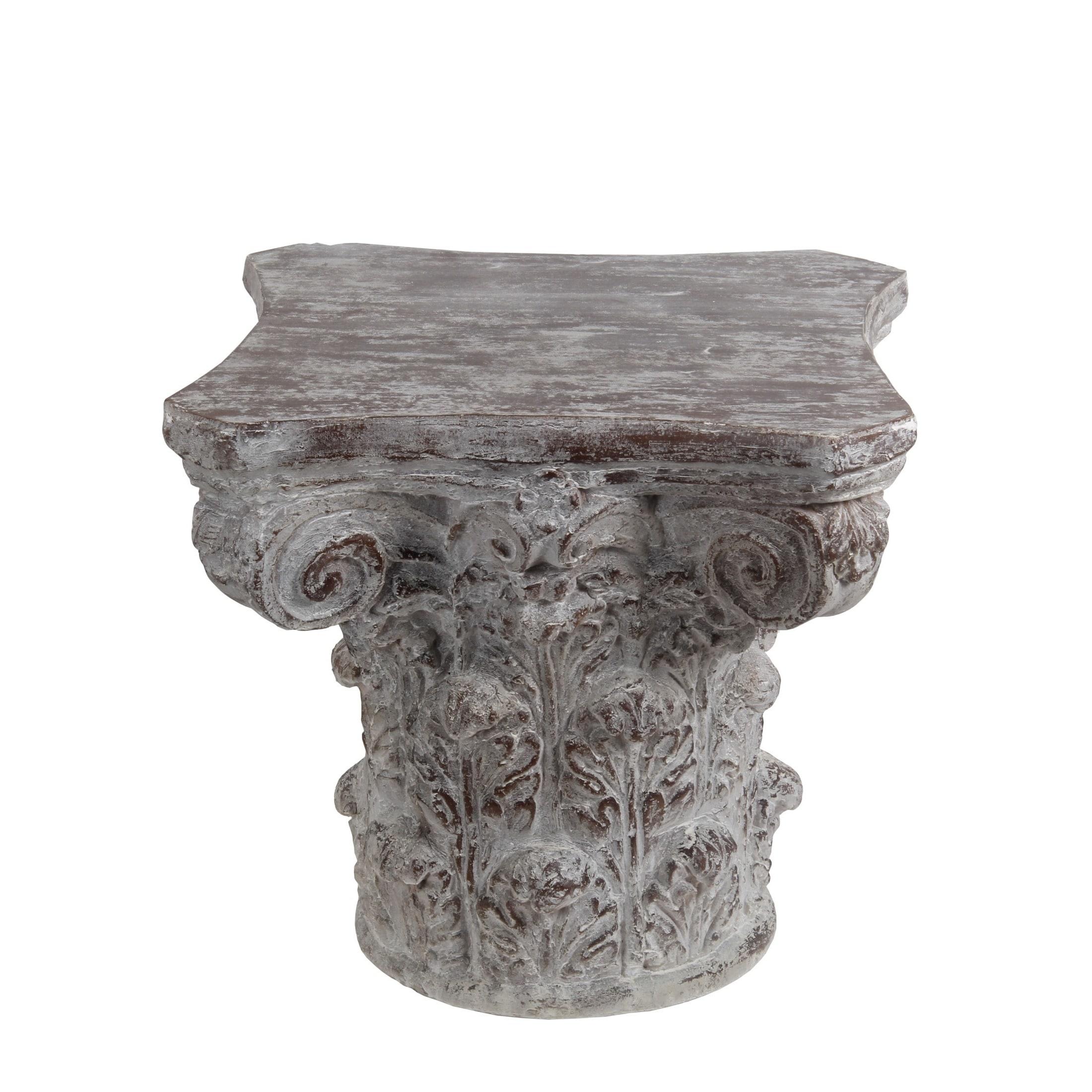 Privilege Stone Grey Ceramic Accent Table (grey)