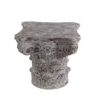 Elegant Privilege Stone Grey Ceramic Accent Table