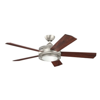 Kichler Lighting Enthrall Collection 60-inch Brushed Nickel LED Ceiling Fan