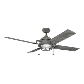 Kichler Lighting Maor Collection 65-inch Weathered Zinc LED Ceiling Fan