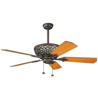 Kichler Lighting Cortez Collection 52-inch Tannery Bronze Ceiling Fan w/Light