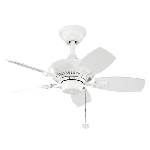 Kichler Lighting Canfield Collection 30-inch White Ceiling Fan