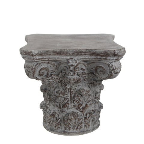 Privilege Dark Stone Grey Ceramic Accent Table