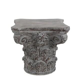 Privilege Dark Stone Grey Ceramic Accent Table
