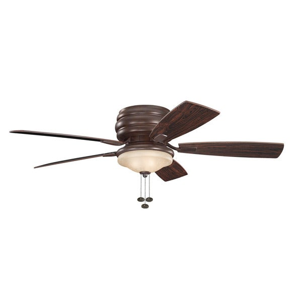 kichler lighting windham collection 52inch tannery bronze ceiling fan wlight - Kichler Fans