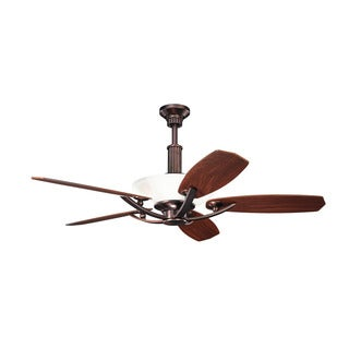 Kichler Lighting Palla Collection 56-inch Oil Brushed Bronze Ceiling Fan w/Light
