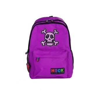 Ed Heck Skull Purple Polyester 13-inch Laptop Backpack