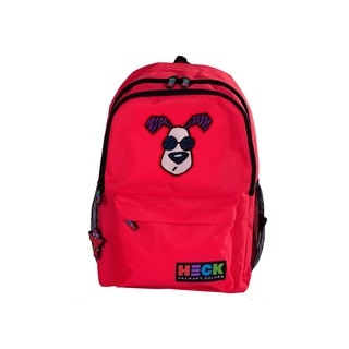 Ed Heck Looking Cool Red Polyester 13-inch Laptop Backpack