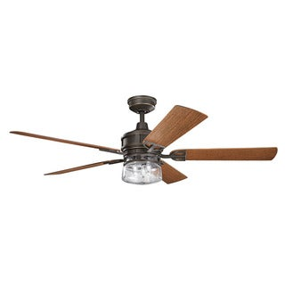 Kichler Lighting Lyndon Patio Collection 60-inch Olde Bronze Ceiling Fan w/Light
