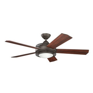 Kichler Lighting Enthrall Collection 60-inch Satin Natural Bronze LED Ceiling Fan